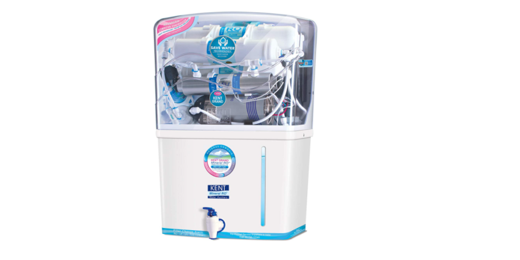 Kent - 11076 New Grand 8-Litres Wall-Mountable RO + UV+ UF + TDS (White) 20 litre-hr Water Purifier