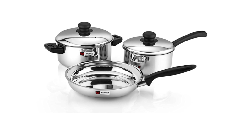 Butterfly Stainless Steel Cookware Set