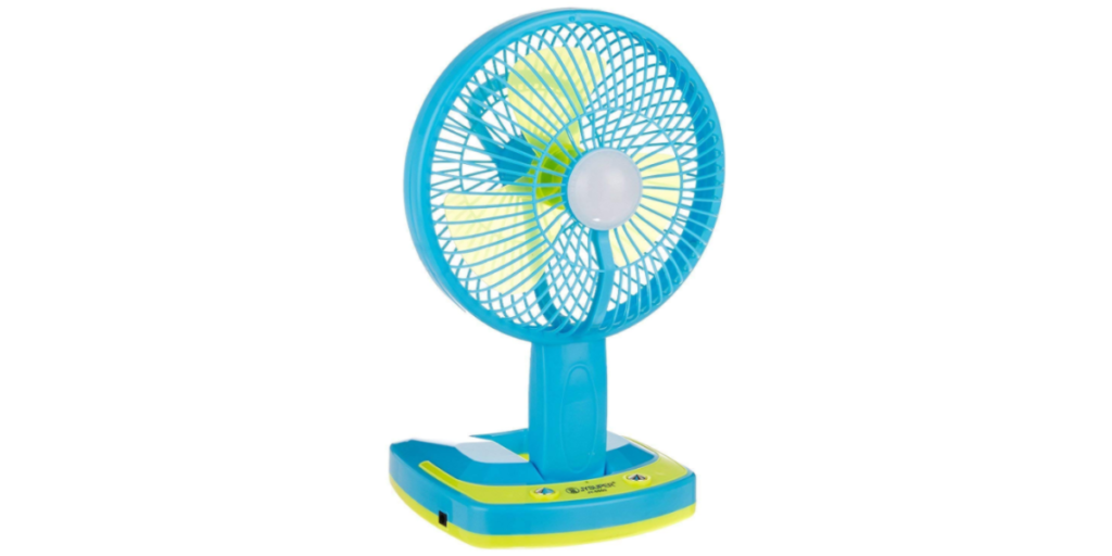 HNESS Powerful Rechargeable Table Cum Wall AC DC Fan