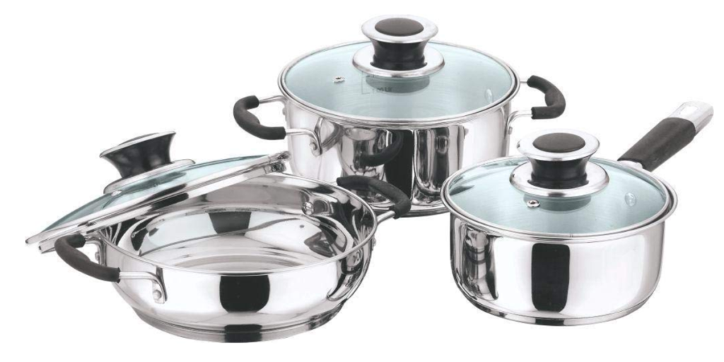 Vinod Stainless Steel Induction Friendly Master Chef Cookware Set