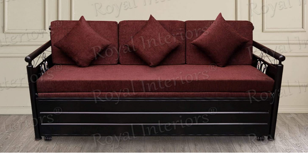 Royal Interiors Metal Single Size Sofa Cum Bed